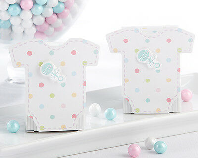 24 Welcome Baby 3D Pastel Baby Shower Favor Boxes