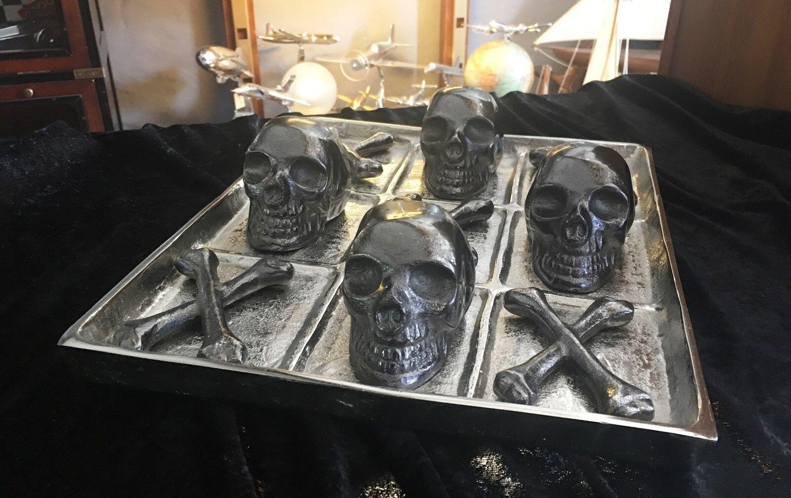 artículos de promoción Gothic Tic Tac Toe, Skull and Bones, aluminio, 35 x x x 29 CM, top reclamo  venta con alto descuento