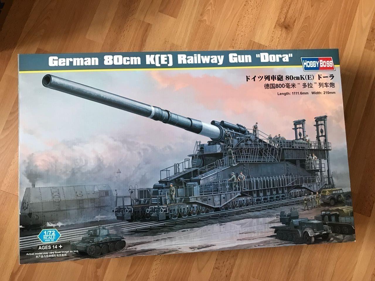 Modellbausatz Eisenbahngeschütz Dora Maßstab 1 72  | Einfach zu spielen, freies Leben