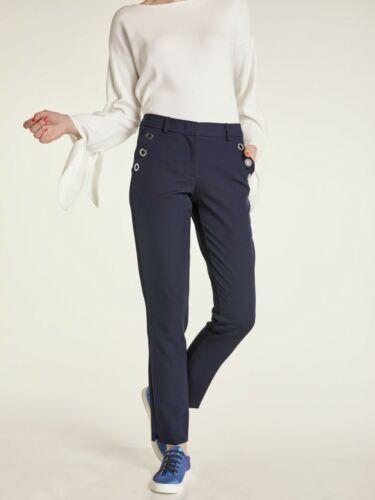 27852119 Tendance Pantalon Femmes De Heine Taille 42 Nachtblau Bleu Foncé H1-111 Art