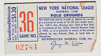NY Mets 1962 vs Colt 45s 1st yr for both teams Polo Grounds Game #36 Grandstands