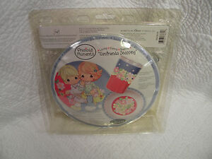 PRECIOUS-MOMENTS-GIRLFRIENDS-Kids-3pc-Plate-Bowl-amp-Cup-Dinnerware-Dining-Set-NEW