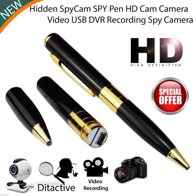Mini Spy Pen Hd Cam Hidden Camera 32gb Video Usb Dvr Recording Gold