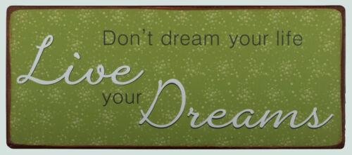 Bouclier d/'IB Laursen Live Your Dreams suspendu Bouclier Don /'t Dream your Life NEUF