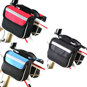 Cycling-Top-Frame-Double-Pouch-Holder-Front-Pannier-Saddle-Tube-Bike-Phone-Bag