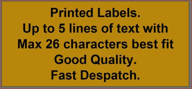 Hand made by GOLD Personalised Labels - 100 - or similar text