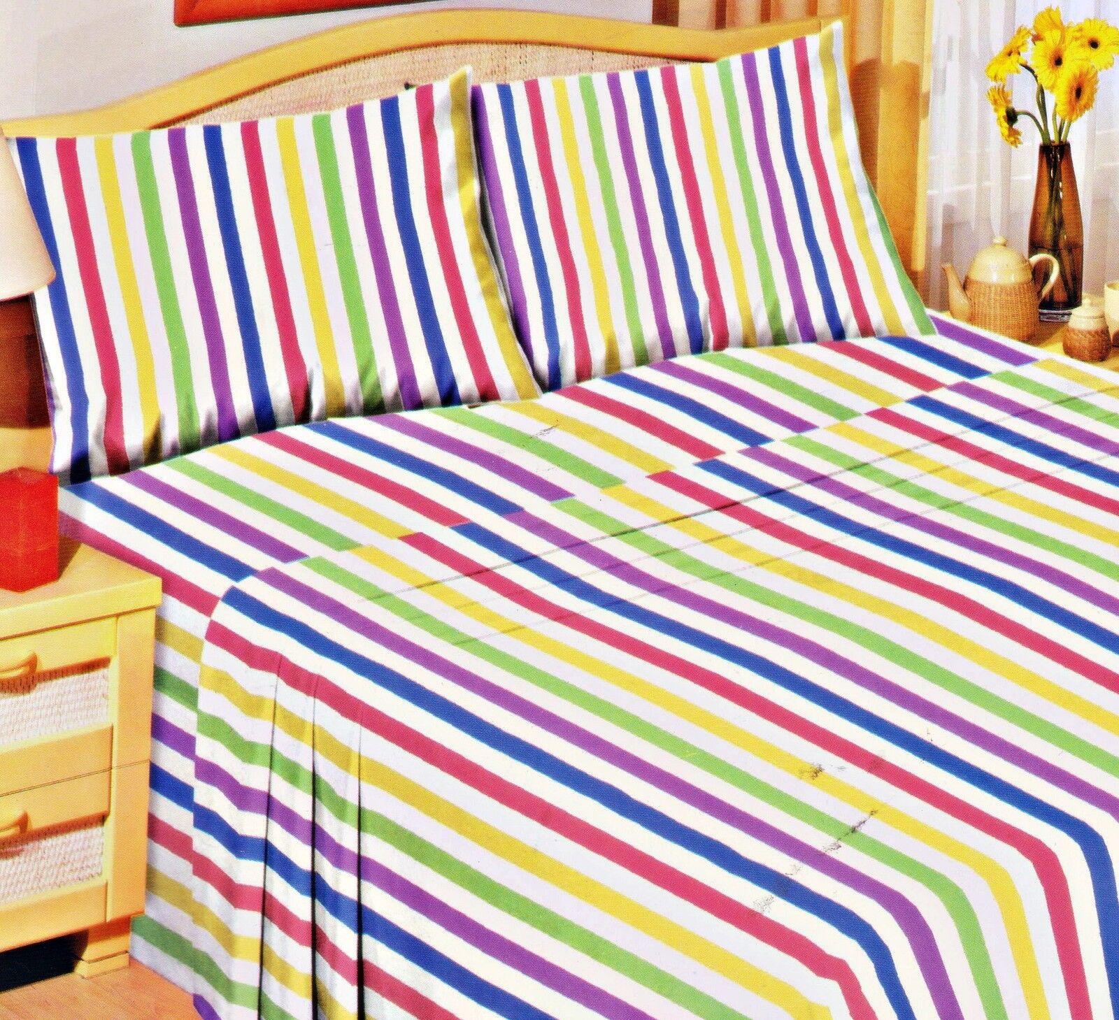 Love2Sleep 100/% BRUSHED COTTON SOFT FLANNELETTE SHEET SET CANDY STRIPE