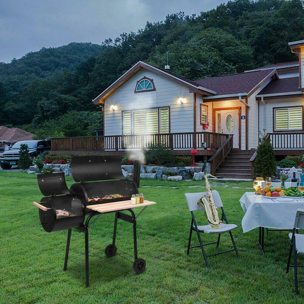Image 71 - 45-034-Outdoor-Charcoal-Pit-Patio-Backyard-Meat-Cooker-Smoker-BBQ-Grill-Garden-Camp