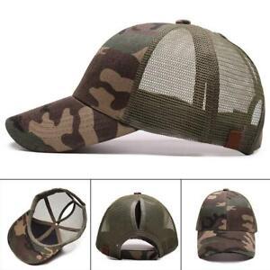fba76b86c Details about Summer Baseball Cap Women Messy Bun Ponytail Adjustable Sport  Trucker Hat Cute*
