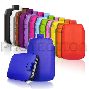 Premium-PU-Leather-Pull-Tab-Pouch-Case-Cover-For-Various-Sony-Ericsson-Phones