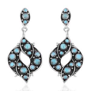 925-Sterling-Silver-Southwest-Dangle-Drop-Earrings-Turquoise-Gift-for-Women