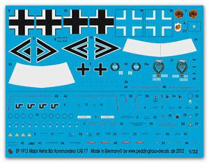 Peddinghaus-1-32-1913-Bf-109-F-Principaux-Heinz-Ours-Commandant-I-Jg-77