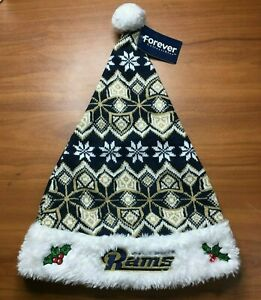 St-Louis-RAMS-KNIT-SANTA-HAT-NFL-Forever-Collectibles-Brand-NEW