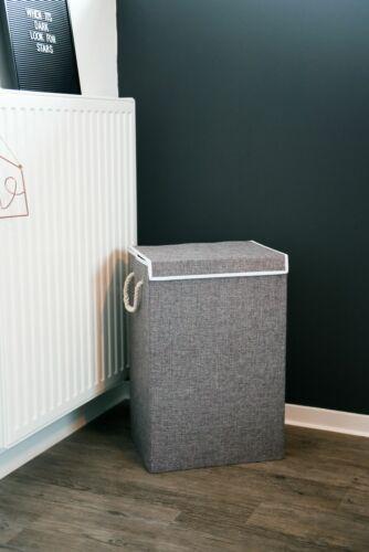 """gris Panier à linge boite à avec couvercle porte-Cordon pliable /""""Canasta/"""" 60x40x30 cm"""