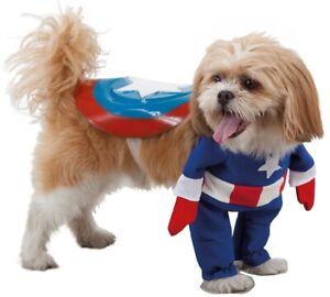 Deguisement-de-SUPER-HERO-pour-Chien-S-Dessin-Anime-Film-Captain-America-NEUF
