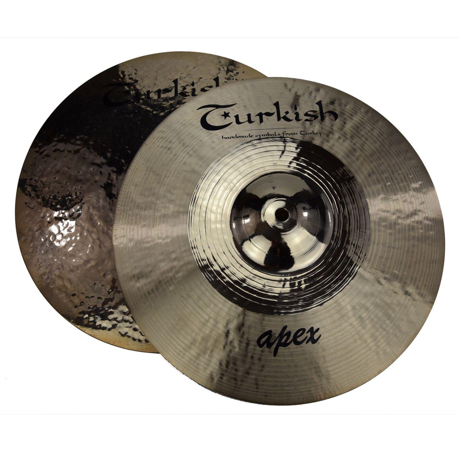 TURKISH CYMBALS Becken 14  HiHat Apex Rock bekken cymbale cymbal 1274 1495g