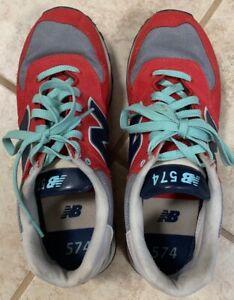 New Balance 574 Feminino Tamanho 10 WL574WHA Casual sapatos ...