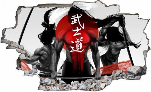 Grafik Samurai Asien Schwert Schrifft Wandtattoo Wandsticker Wandaufkleber C1957