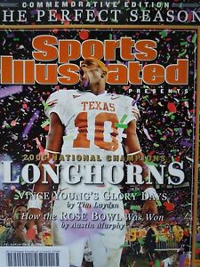 January 9 2006 Vince Young Texas Longhorns Sports Illustrated