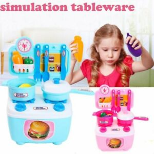 Details about Children Gift Play Kitchen Set Kid Pretend Cooking Food Toy  Educational US STOCK