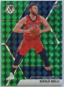 2019-20 Mosaic Basketball Nicolo Melli GREEN PRIZM Rookie Card #216 Pelicans