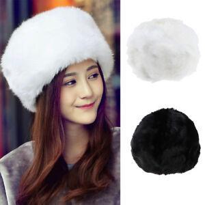 22fb2a1bd65545 Warm Round Snow Beanie Cap Faux Fur Cossak Russian Hat ...