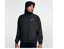 Nike Sportswear Windrunner Winterized QS Jacket Black Gold Men's Size XL