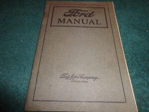 1919 1920 ford model t owner s manual original guide book ebay rh ebay co uk 1927 Model T 1914 Model T