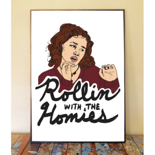 TAI CLUELESS ROLLIN WITH THE HOMIES DRAWING ART POSTER PRINT 90S BRITTANY MURPHY