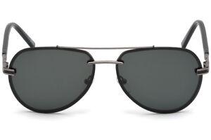 NWT Montblanc Sunglasses MB 643S 08A Shiny Gunmetal   Smoke 60 mm ... 3d40229b8d