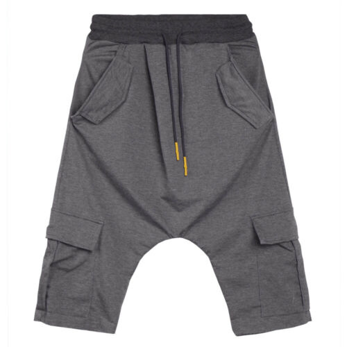 Men/'s Baggy Elastic Waist Drop Crotch Harem Pants Gym Jogging Dancing Trousers