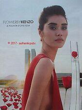 PUBLICITE KENZO PARFUM  FLOWER COQUELICOT POUVOIR FLEUR DE 2016 FRENCH AD PUB