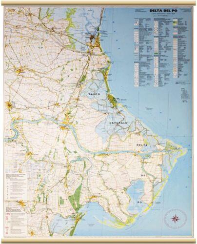 DELTA DEL PO CARTINA MURALE [94X134 CM] [CARTA/MAPPA] BELLETI SRL
