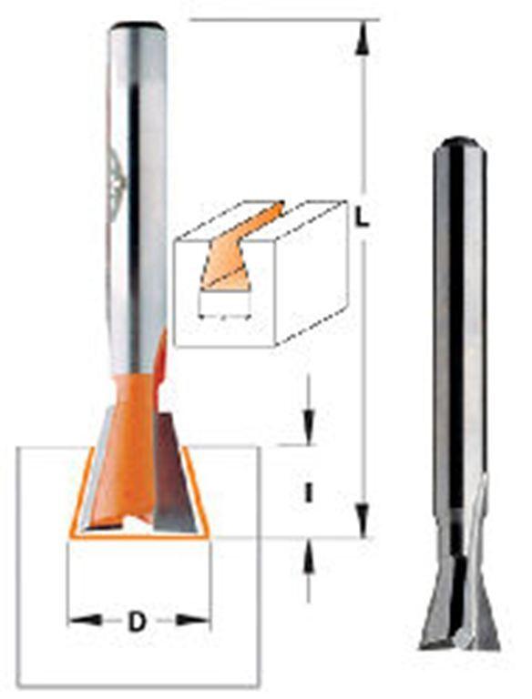 CMT 818.674.11 Dovetail Bit 1//2-Inch Shank 11//16-Inch Diameter