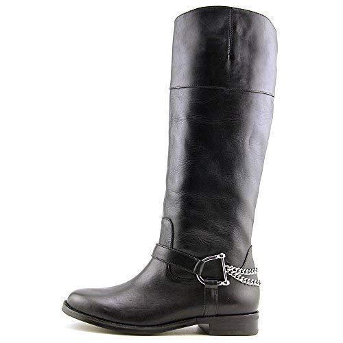 buon prezzo NIB Ralph Ralph Ralph Lauren Jacqui Leather Tall Riding equestrian chain stivali nero  9,5  profitto zero