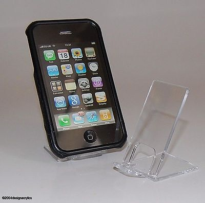 50 X CLEAR ACRYLIC MOBILE PHONE STANDS DISPLAY