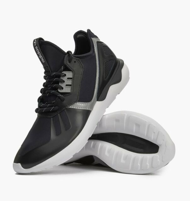 adidas Originals Tubular Runner Shoes Black White B25525 Sz US 10