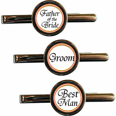 Personalised Groom Tie Clip - Father of the Groom, Best Man, Father of the Bride