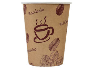 100 Kaffeebecher Coffee to go Becher 200 ml 8 oz Chocolate Tea Latte (AG-385)