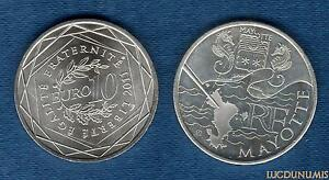10-Euro-Serie-des-Regions-2011-Drapeaux-Argent-SUP-Mayotte