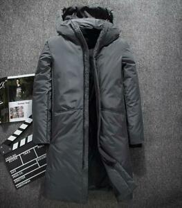 Men-039-s-Winter-Warm-Down-Jacket-Thick-Long-Sleeve-Coat-Padded-Parkas-Hoodie-Casual