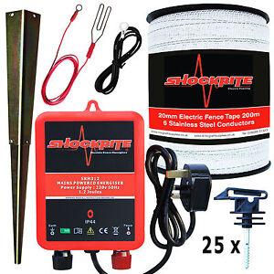 Cloture-electrique-mains-energiser-srm312-1-2-J-200m-20mm-polytape-25-isolateurs-de-bande