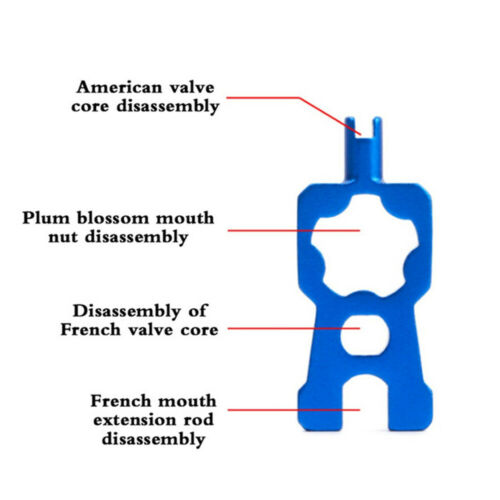 4 in 1 Bike Bicycle valve Core Wrench Removal Tool For American Presta Portable