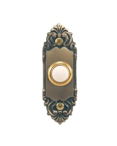 Heath Zenith SL-925-02 Antique Brass Wired Push Button