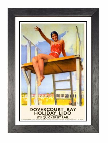 Dovercourt Railway Vintage Holiday Beautiful Amazing Price Poster  Essex Advert