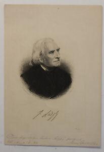 Original-Kupferstich-Franz-List-von-August-Weger-um-1890-Kunst-Kultur-Kupfer-sf