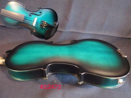Blaue-schwarze Farbe volle Größe elektrische Geige Akustische Geige guter Klang
