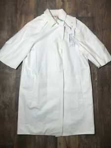 NEW-Designer-Marni-Star-White-Short-Sleeve-Duster-Coat-Trench-Jacket-40-4-Small