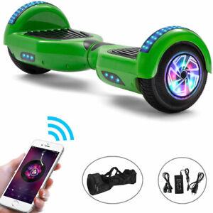 Hoverboard 6,5 Zoll Grün Bluetooth Elektro Scooter LED ElektroRoller Für Kinder