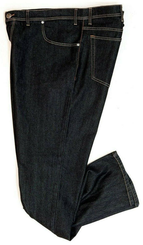 Maxfort jeans taglie forti uomo 2200nero pantalone stretch grande elasticizzato